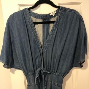 Splendid x Anthropologie Denim Jumpsuit